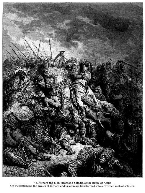 Richard I The Lionheart In Battle At Arsuf In 1191 1877