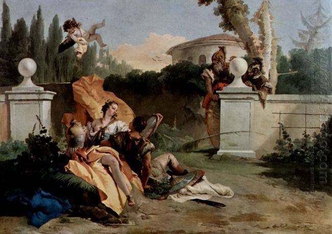 Rinaldo And Armida Are Surprised By Ubaldo And Carlo 1755