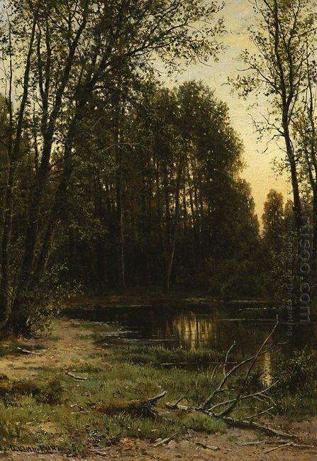 River Backwater In The Forest 1890