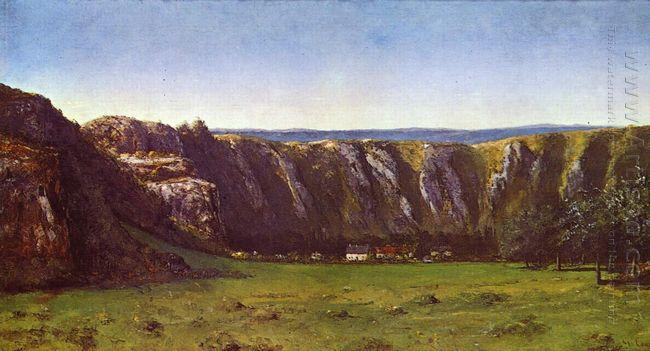 Rocky Landscape Near Flagey 1855