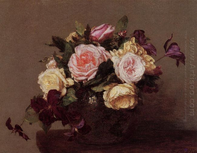 Roses And Clematis 1883