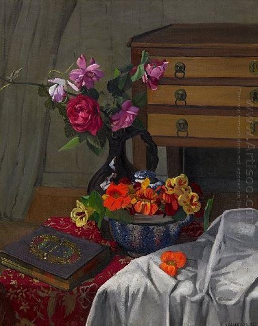 Roses And Nasturtiums 1920
