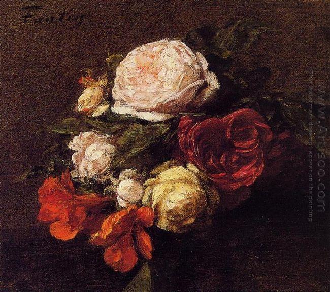 Roses And Nasturtiums
