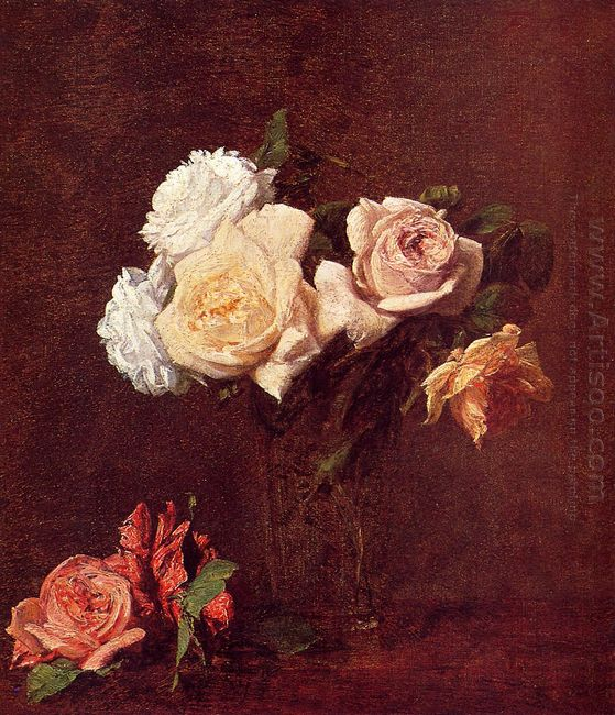 Roses In A Vase 1884