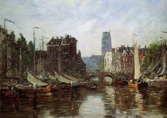 Rotterdam Le Pont De Bourse 1876