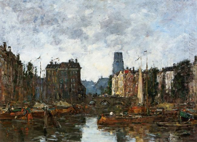 Rotterdam The Pont De La Bourse 1873