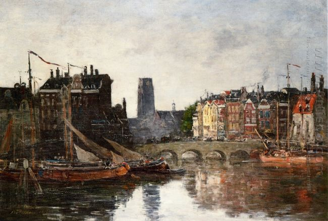 Rotterdam The Pont De La Bourse 1876