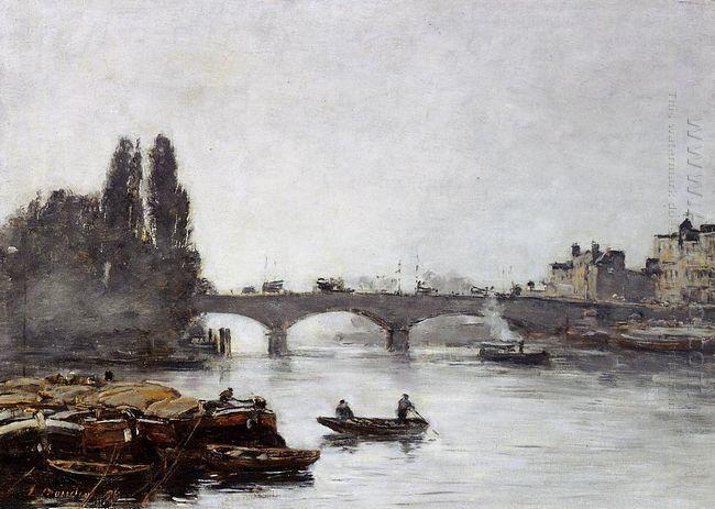 Rouen The Pont Corneille Fog Effect 1896