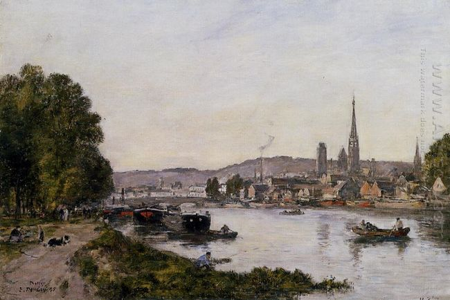 Rouen View Over The River Seine 1895
