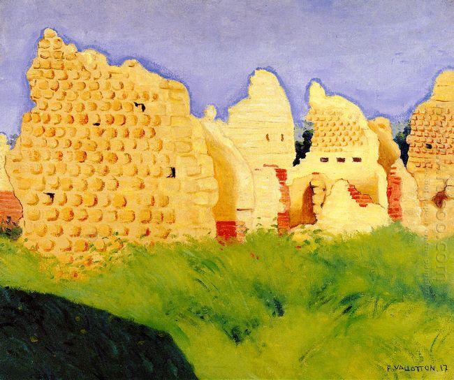 Ruins At Souain Sunset 1917