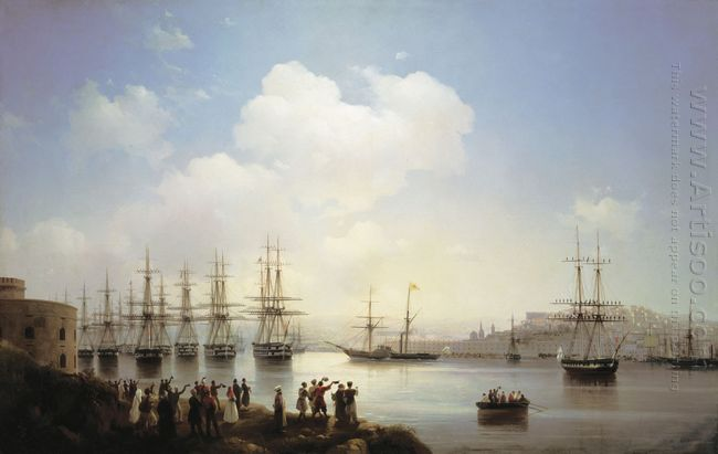 Russian Squadron On The Raid Of Sevastopol 1846