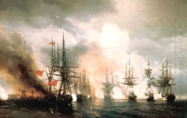 Russian Turkish Sea Battle Of Sinop On 18Th November 1853 1853