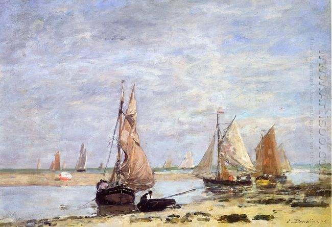 Sailboats Near Trouville 1873