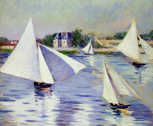 Sailboats On The Seine At Argenteuil