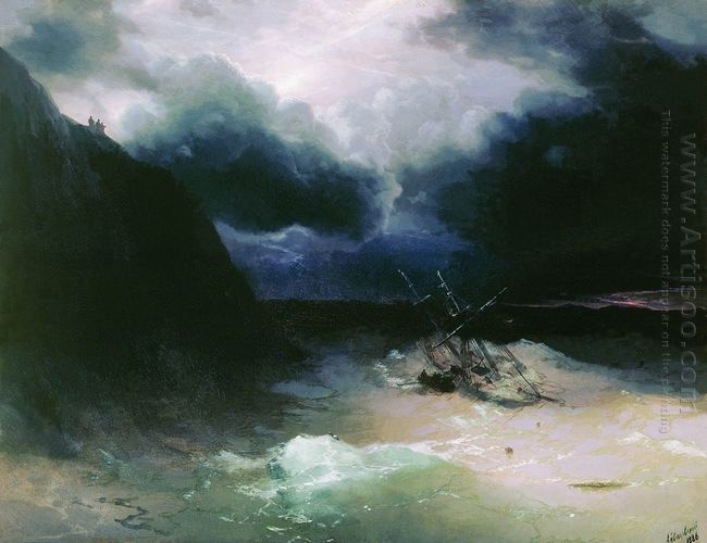 Sailing In A Storm 1881