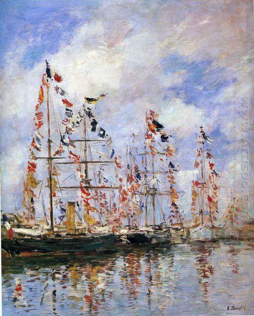 Sailing Ships At Deauville 1896