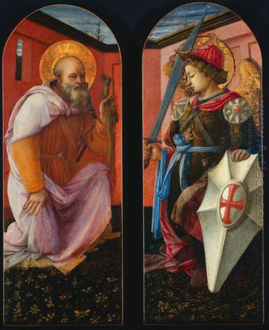 Saint Anthony And Archangel Michael 1456