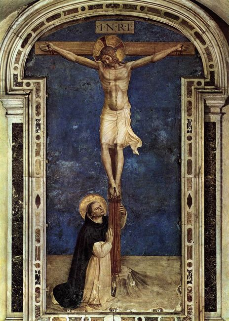 Saint Dominic Adoring The Crucifixion 1442