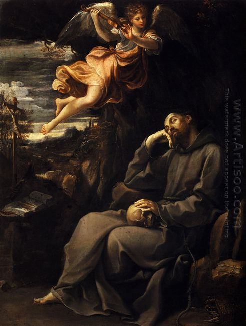 Saint Francis Deadened With An Angel Musician 1607