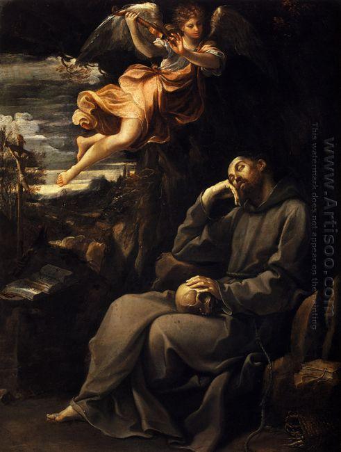 Saint Francis Deadened With An Angel Musician 1607
