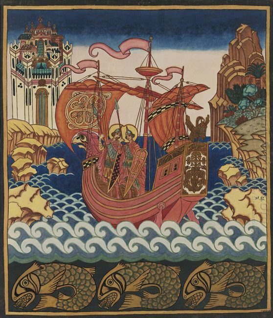 Saints Boris And Gleb On The Ship