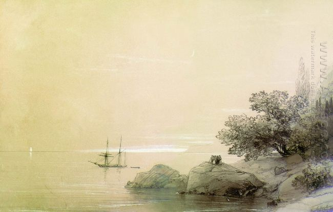 Sea Against A Rocky Shore 1851