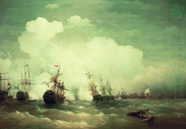 Sea Battle At Revel 1846