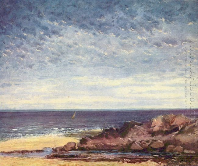 Sea Coast In Normandy 1867