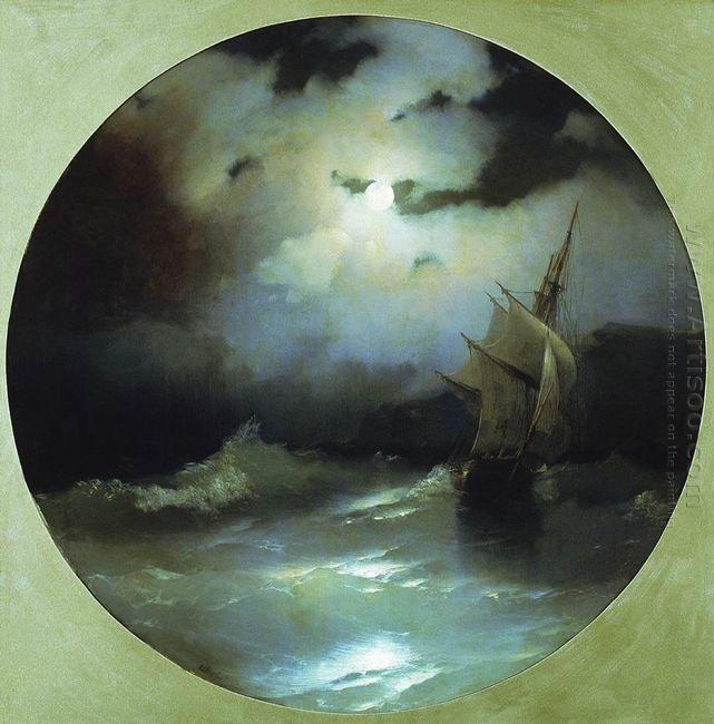 Sea On A Moonlit Night 1858