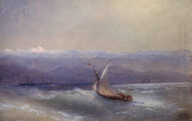 Sea On The Mountains Background 1880