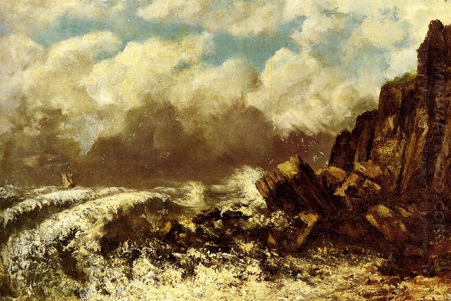 Seascape At Etretat 1869