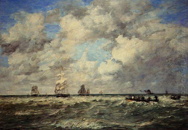 Seascape Les Lamaneurs 1884