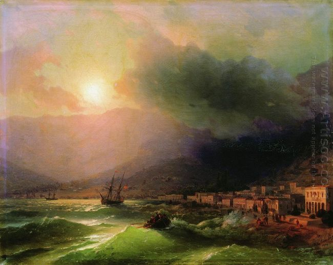 Seaside City View Of Yalta 1866