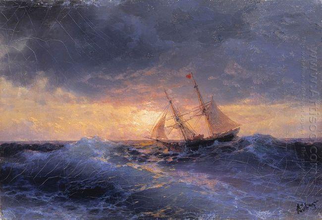Sea Sunset 1896