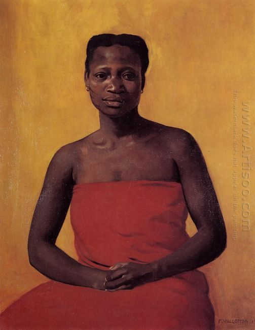 Seated Black Woman Front View 1911
