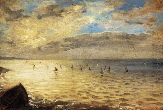Sea Viewed From The Heights Of Dieppe 1852