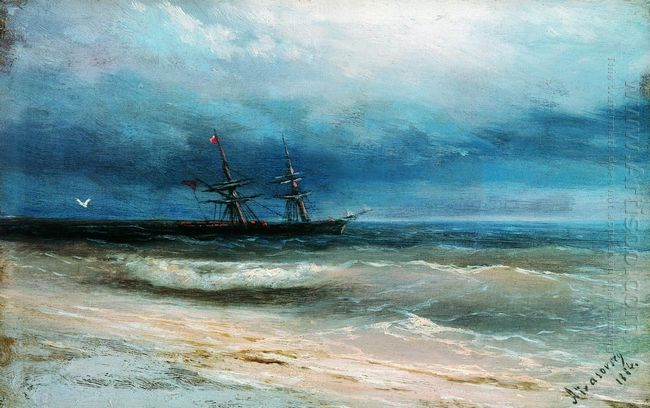 Sea With A Ship 1884