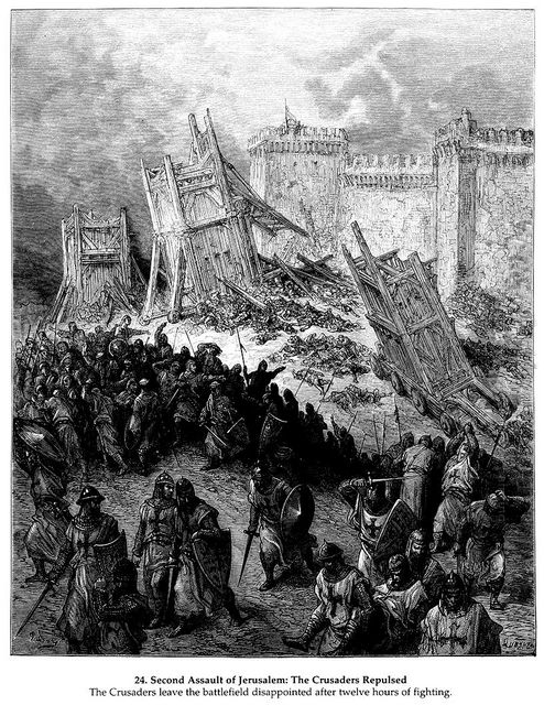 Second Assault Of Jerusalem By The Crusaders Repulsed 1877