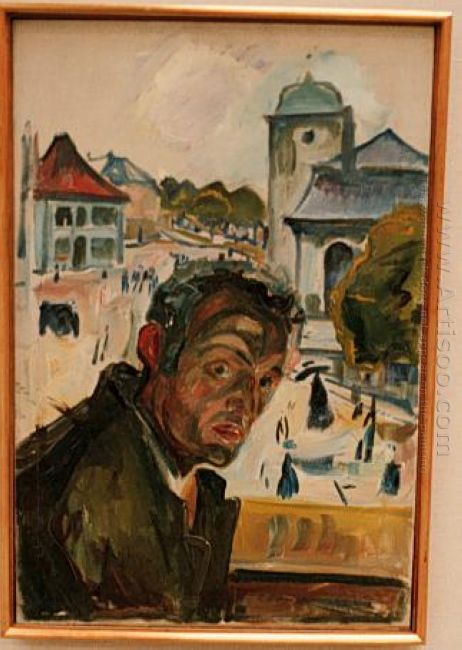 Self Portrait In Bergen 1916