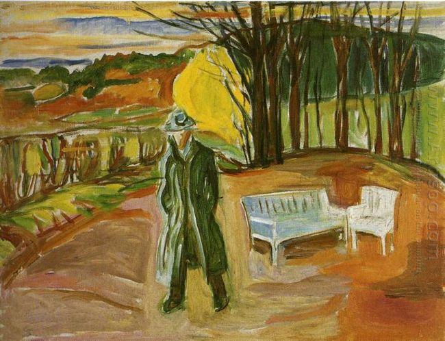 Self Portrait In The Garden Ekely 1942