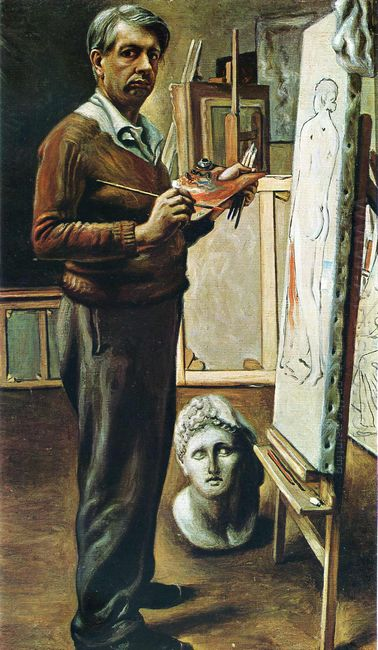 Self Portrait In The Studio 1935