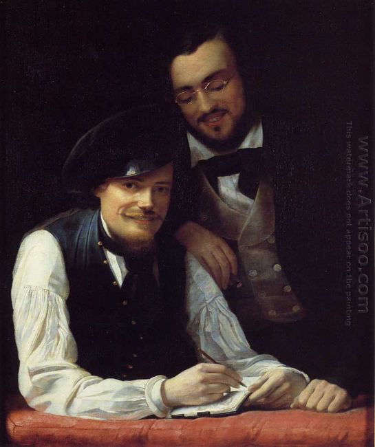 Self Portrait Of The Artist With His Brother Hermann