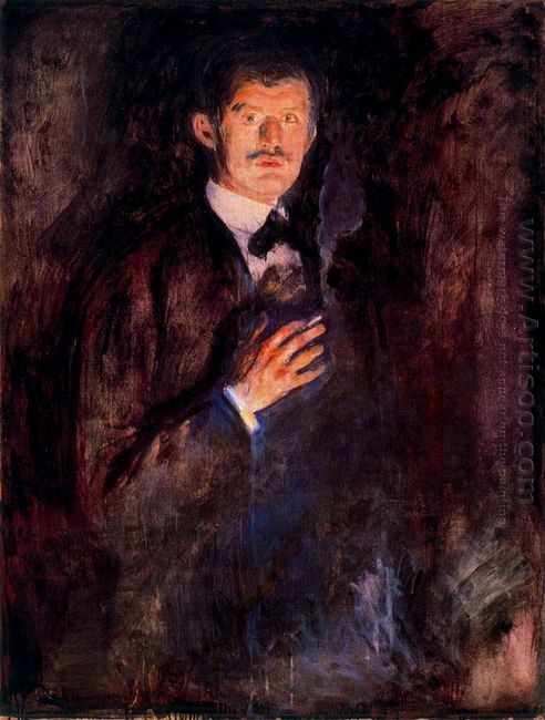 Self Portrait With Burning Cigarette 1895