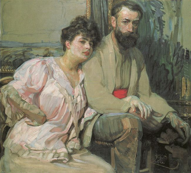 Self Portrait With Wife 1908