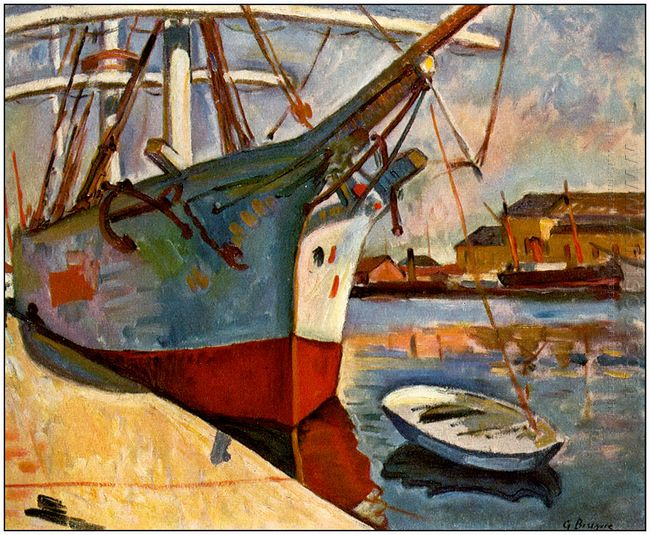 Ship At Le Havre 1905