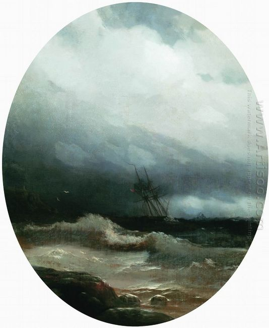 Ship In A Storm 1891