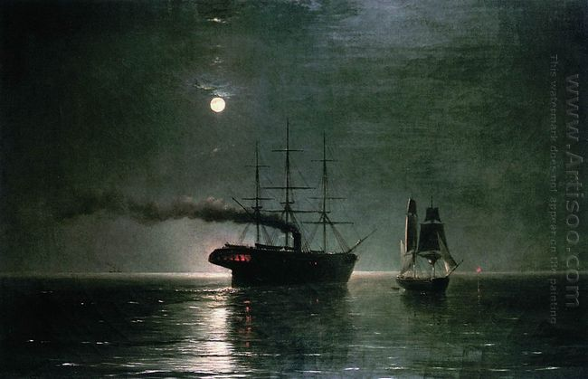 Ships In The Stillness Of The Night 1888