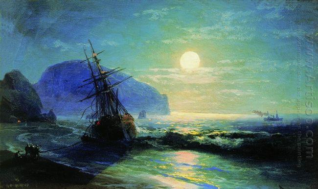 Shipwreck Near Gurzuf 1898