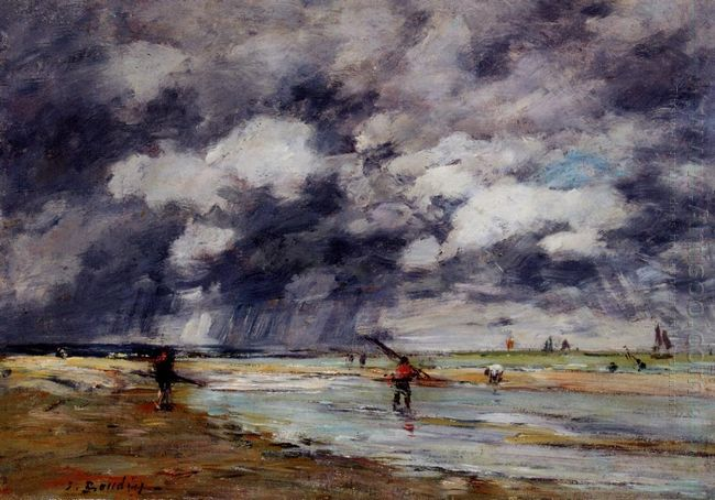 Shore At Low Tide Rainy Weather Near Trouville 1895