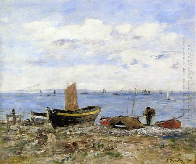 Shore At Sainte Adresse Low Tide 1894